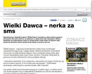 TVN Uwaga Beata Bruggeman Sekowska